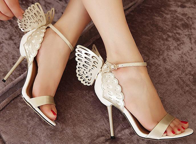 sandales de mariage avec noeud papillon à talon aiguille