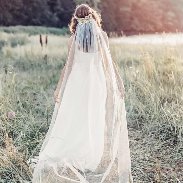 mariée avec le voile