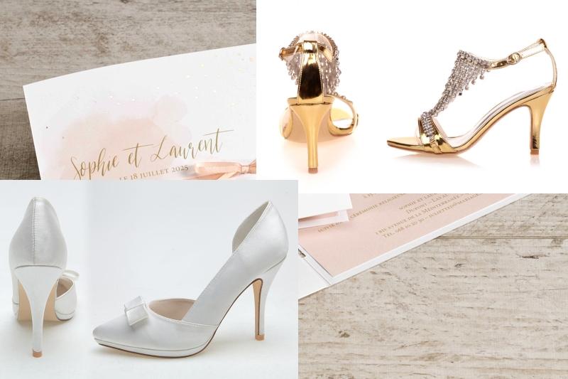 chaussures de mariage colorées à talons hauts