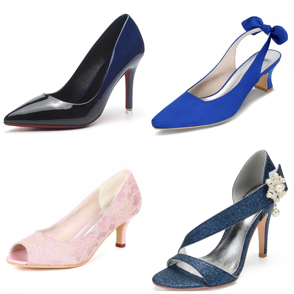 chaussures de mariage colorées à talons hauts & à talons bas