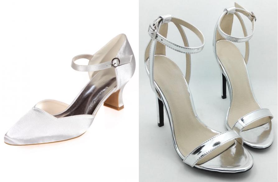 chaussures de mariage à talon bas & talon haut