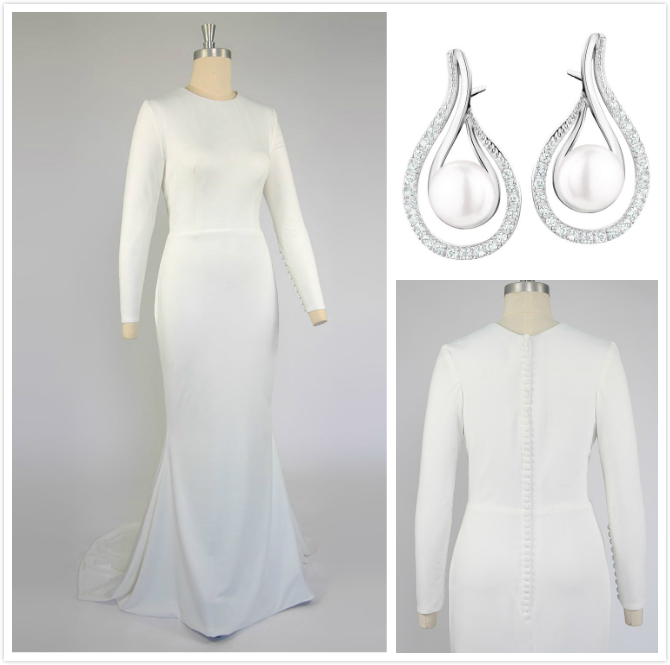 accessoires pour robe de mariée minimaliste