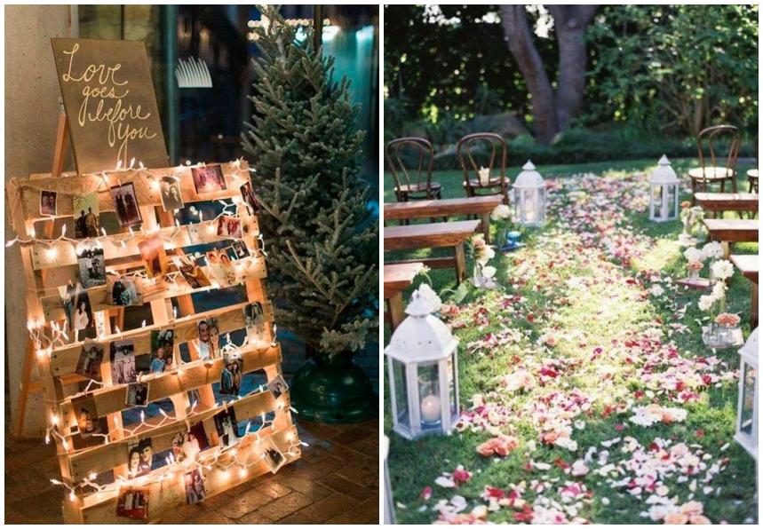 décorations pour mariage en plein air