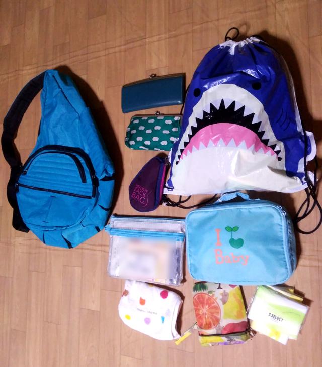 スイミングに行く日の荷物