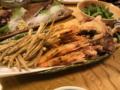 うp漏れ】揚げ物。この他に焼き物、さらに天ぷらも出たよ