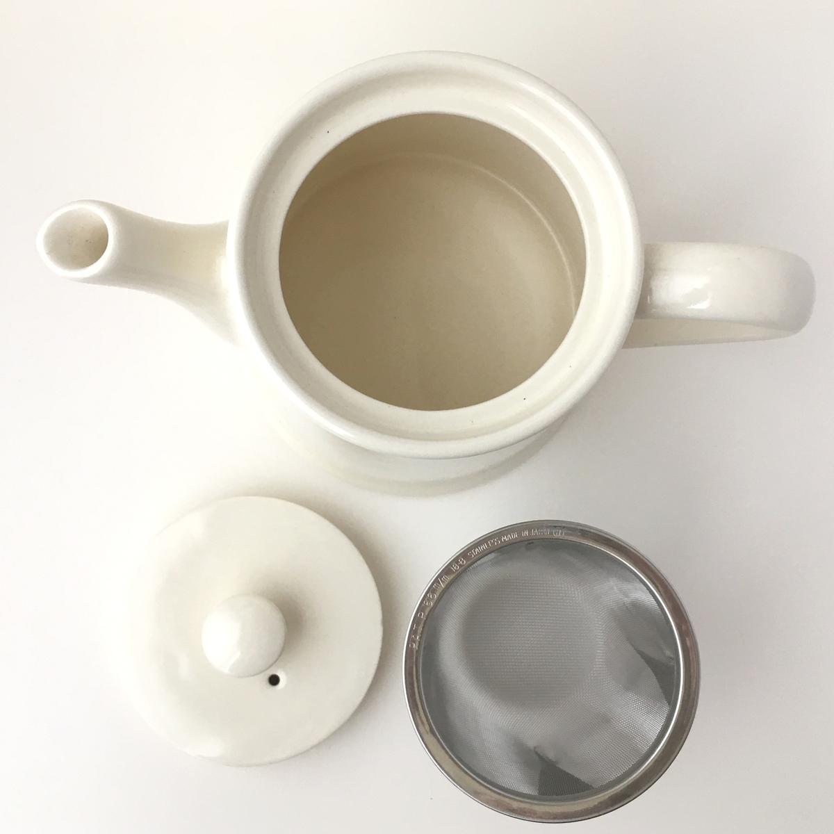 ティーポット 茶こし付き