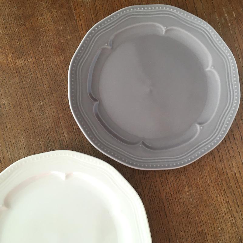 お皿 グレー