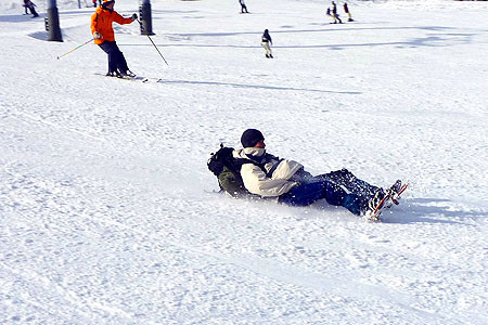 スキー場でシリセード