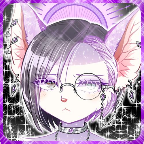 紫のメスケモ獣人キツネ娘