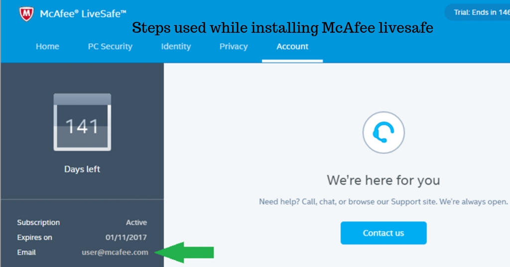 Steps used while installing McAfee livesafe - contactinfo's blog