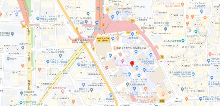お店の位置情報