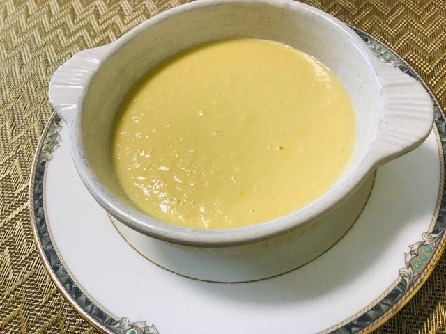 冷製コーンポタージュスープの出来上がり写真