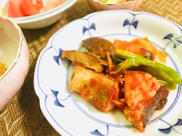 鮭のトマト風味さっぱり漬け完成