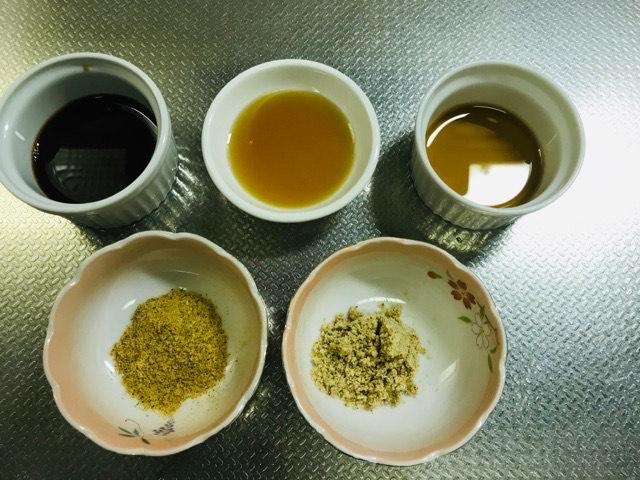 小松菜のチャンプルーの調味料写真