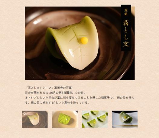 第三話で登場した和菓子写真