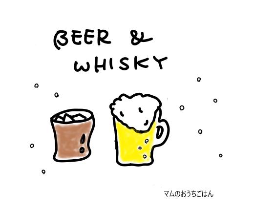 ビールとウィスキー