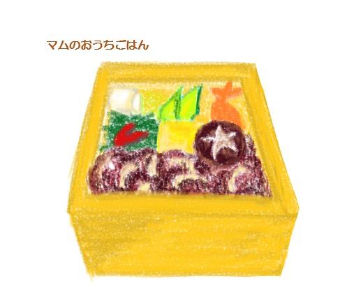 すき焼き弁当のイラスト