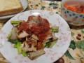 鶏のささみ塩麹パン粉焼きトマトソース!(長い)