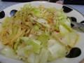 昼飯なのか、夕飯なのか。キャベツとたまごのてへペペロン。