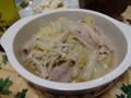 白菜と豚肉。冬っぽいメニューですが、サッパリしたものが食べたくて