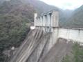 佐久間ダム。大きくて全景が撮れない。
