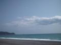 熊野海岸で昼休み