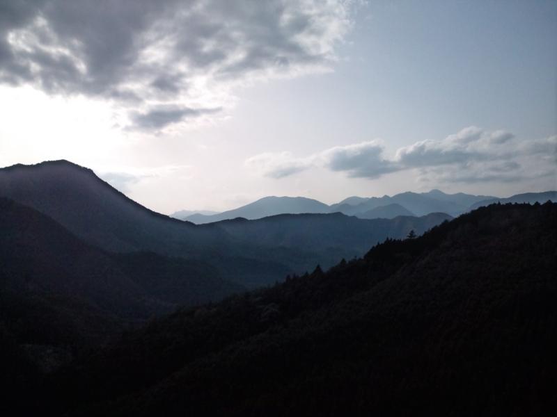 峠からの夕暮れ