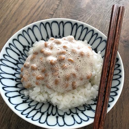 酢納豆かけご飯