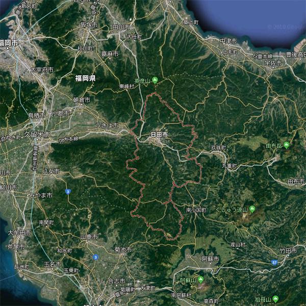 日田市の航空写真