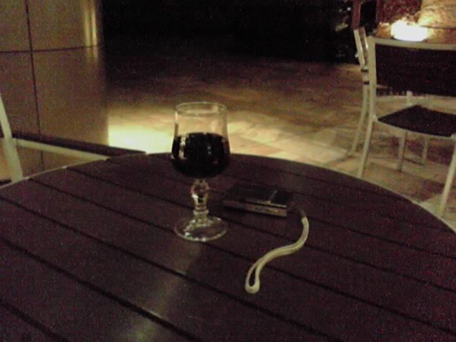 ワイン飲みながらヒルズで読書。うそセレブ^^