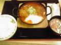 激辛麻婆カツ鍋(;´Д`)