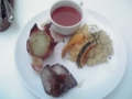 お昼ごはん。たまねぎ食べられないのについ^^;@ゲートシティ