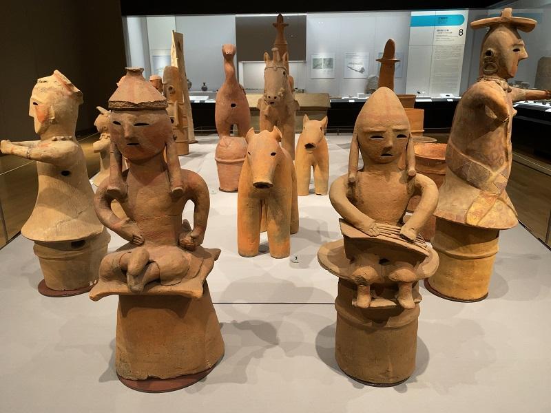 東京国立博物館の考古展示室の埴輪