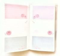 ファンケル花の手帳メモページ