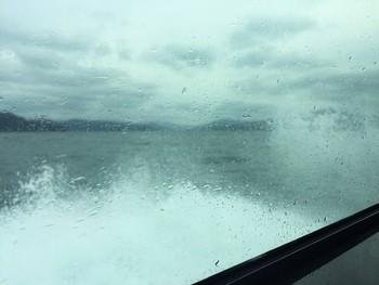 青戸クルージング 波が高く、船が横揺れ