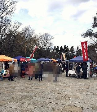 梅小路公園の手づくり市の様子(2月)