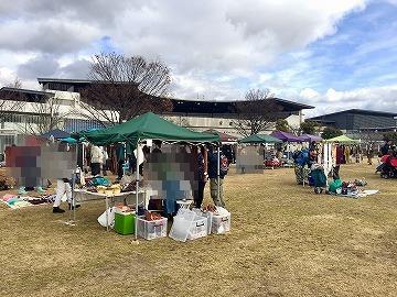 梅小路公園の手づくり市 京都水族館の横にて