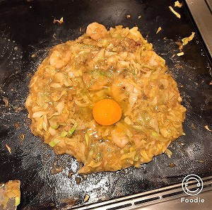 浅草「つる次郎」もんじゃ焼きが完成