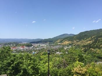 京都市蹴上浄水場の一般公開 山の上から見た京都の街の風景