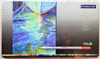 ステッドラーの水彩色鉛筆 60色入り