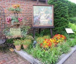 ガーデンミュージアム比叡 花と陶板名画の景色