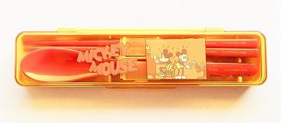 ミッキーマウスとミニーマウスのお箸スプーンセット(スケーター)