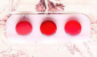 キスミー フェルムの口紅のサンプル 3色
