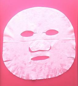 ルルルンプレシャス グリーンのフェイスマスクを広げたところ
