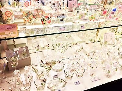 黒壁ガラス館 素敵なガラスの食器