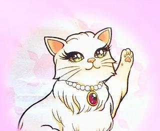 ヒロインメイク マスカラのキャラクター 猫