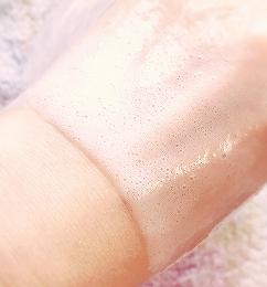 ホットタブ重炭酸湯で手湯をしたあとの手