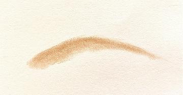 エトヴォス アイブロウパウダー アッシュブラウン色で描いた眉毛の形