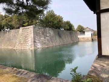 二条城のお堀と石垣