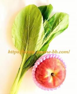 パナソニックのタンブラーミキサーで小松菜とりんごのスムージーを作